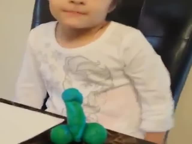 Little Girl Made a Dolphin on Wheels and She Managed to Make It NSFW!