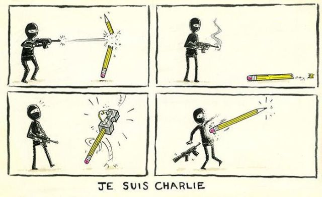 Cartoonists Create Honorary Art in Memory of the Charlie Hebdo Victims