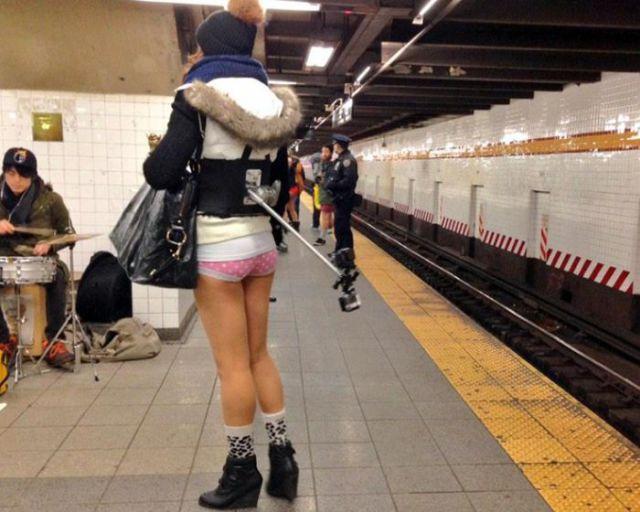 """Pics from the 2015 """"No Pants"""" Subway Ride"""