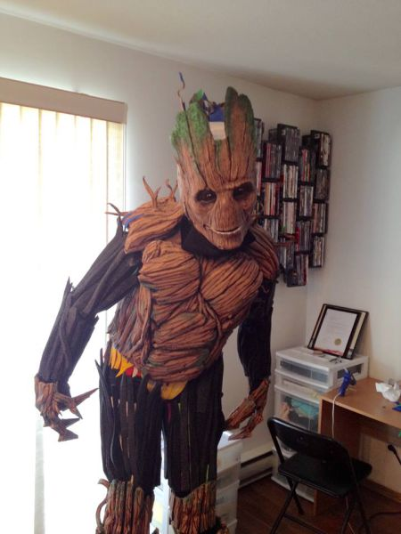 "A Little ""Groot"" Cosplay Done Perfectly"