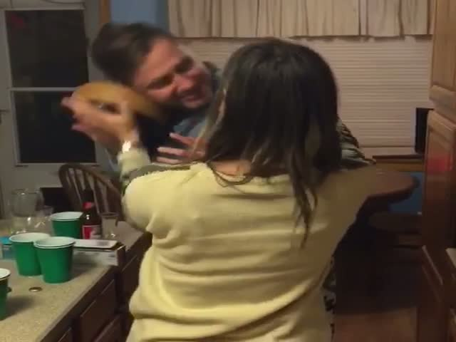 Husband Gets Revenge After Wife Tries to Smash Cake in His Face  (VIDEO)