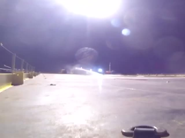 Footage of the Failed SpaceX Falcon 9 Rocket Landing