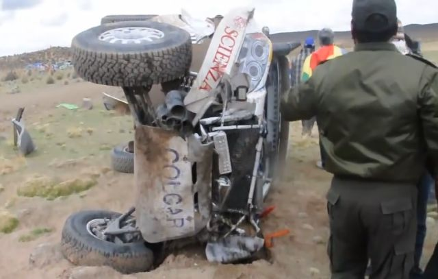 Insane Crash at the Dakar Rally