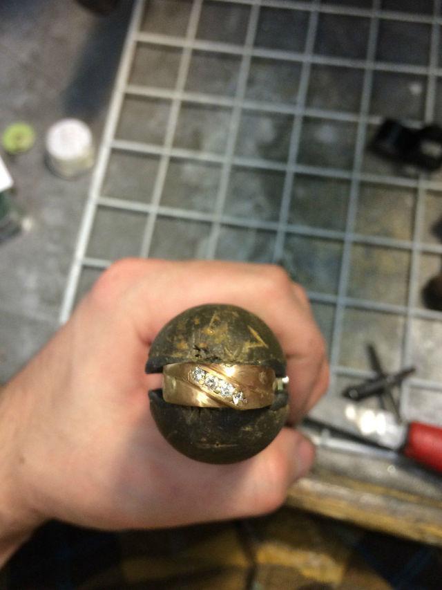 A Mangled Wedding Ring Undergoes a Loving Restoration