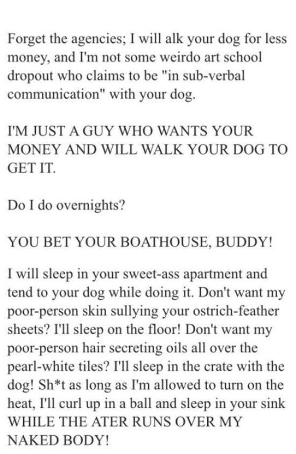 This Is One of the Best Craigslist Ads I've Seen in a While