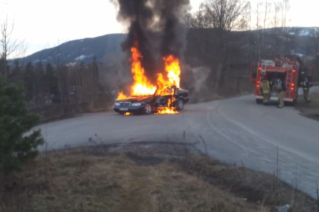 When Extinguishing a Car Fire Goes Wrong