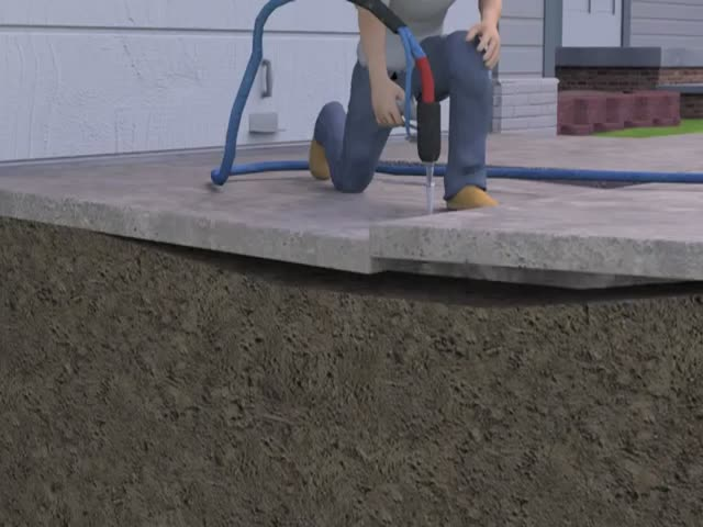 How To Lift Cracked Uneven Concrete Driveways With Foam