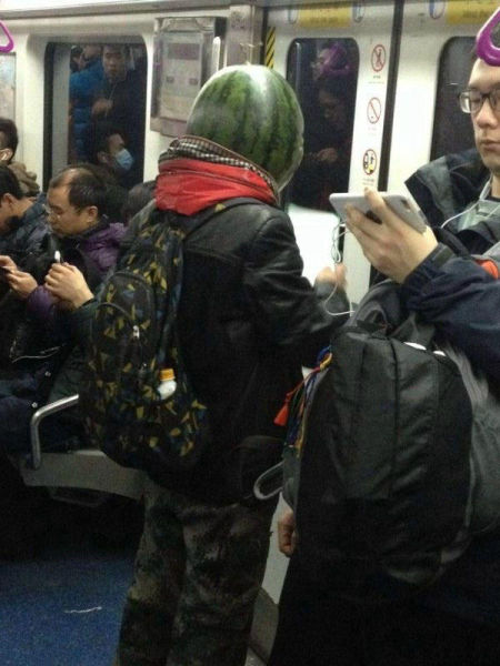 A Watermelon Man Spotted in China