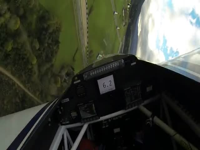 Pilot's View While Flying the Grand Finale of the Red Bull Air Race World Championship