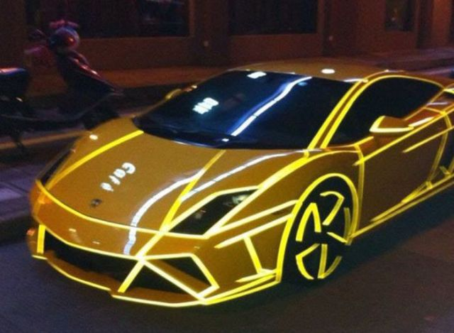 Super Cars Light Up the Night