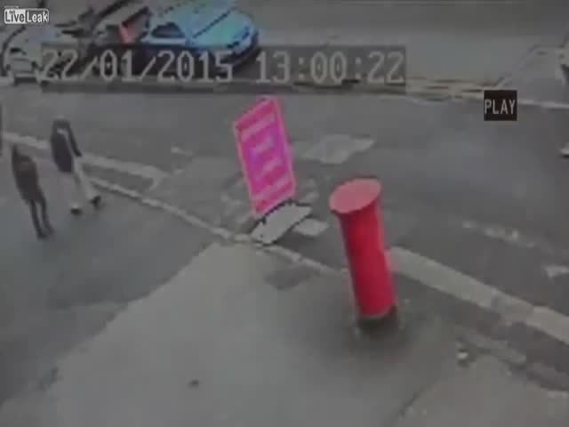 Toddler Narrowly Escapes Being Crushed by Exploding Manhole