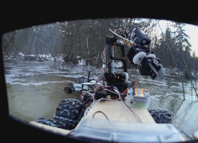RC Car Falls into Frozen Lake, RC Truck Come to the Rescue