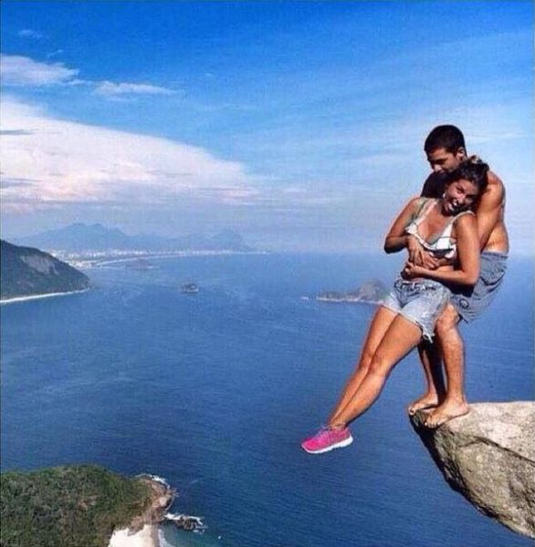 the real life making of cool cliffside photos 4 pics izismile com