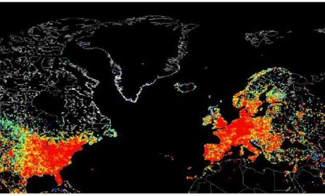 A Graphic Map of the World's Real Internet Usage