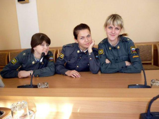 The Cute and Sassy Girls of the Russian Police Force