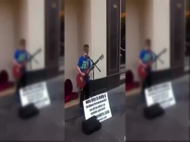 12-Year-Old Kid Rocking Out AC/DC like a Boss  (VIDEO)