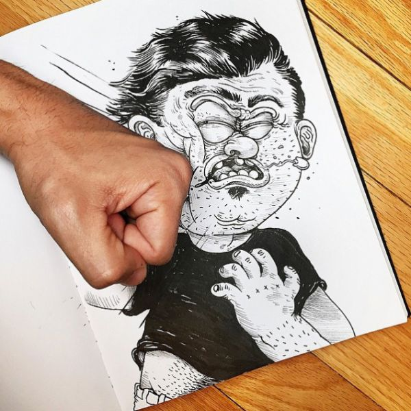 Artist Fights with His Creations