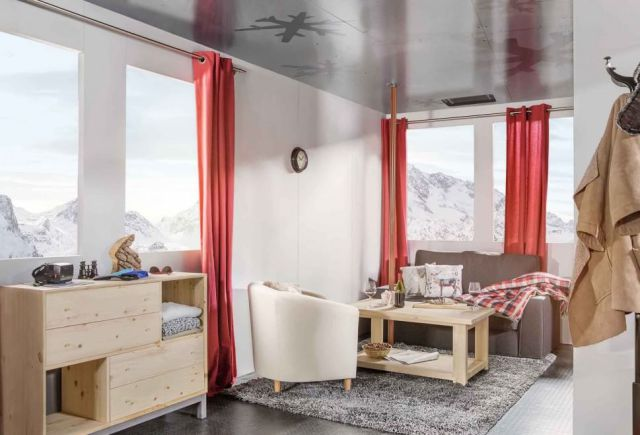 A Comfy Bedroom Above the Snow