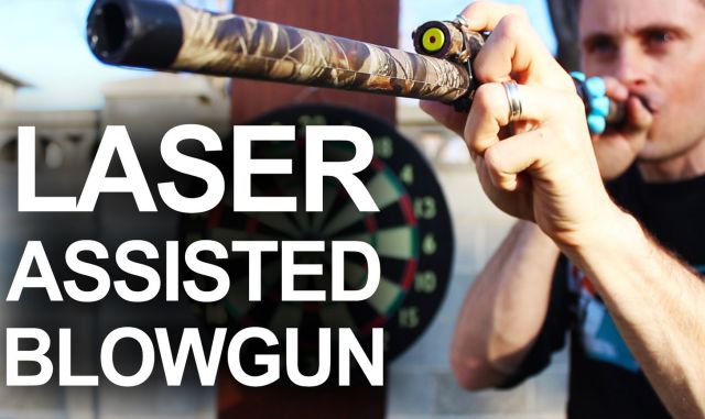 How to Make a Surprisingly Powerful Laser Guided Blowgun