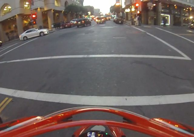 Motorcyclist Lands like a Ninja After Being Hit by a Car