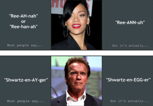The Right Way to Pronounce Celebrity Names