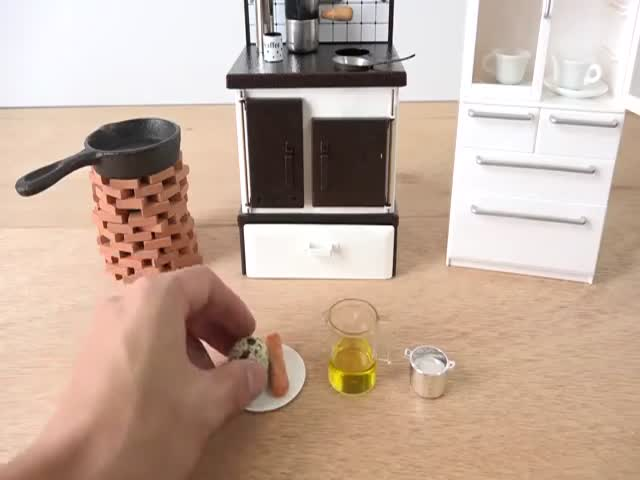 A Cute Miniature Kitchen to Cook Teeny Tiny Food