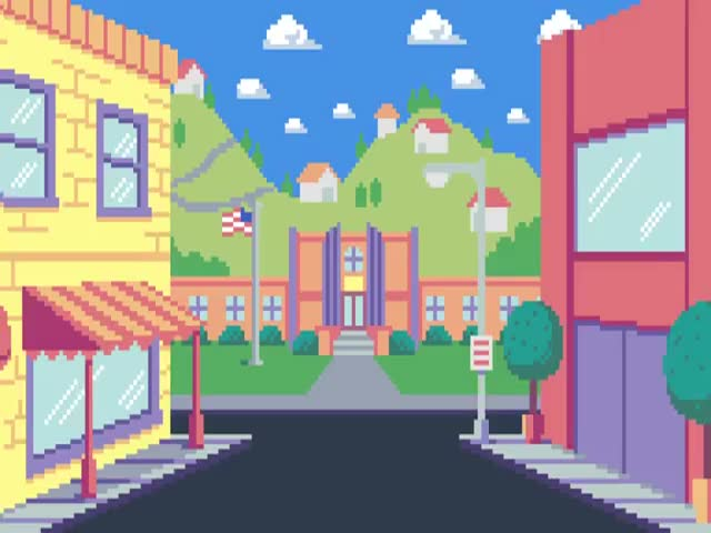 The Simpsons in Pixel Art
