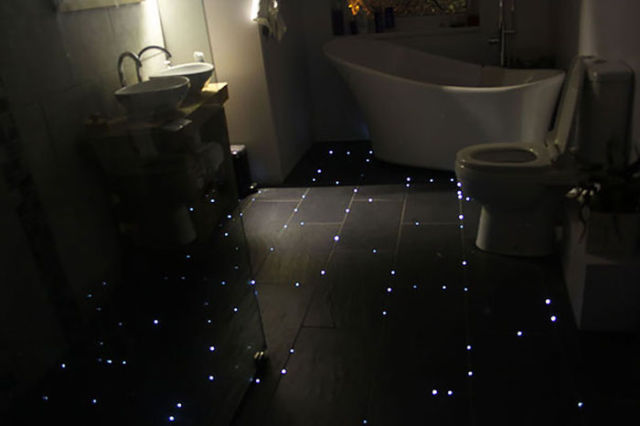 "A One-of-a-kind ""Starry Night"" Bathroom Floor"