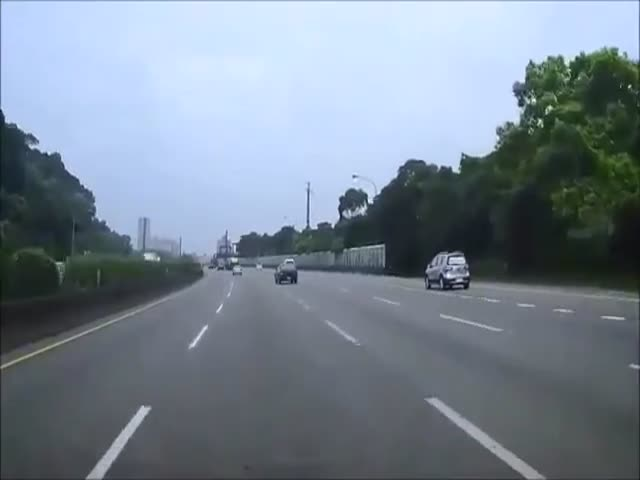 Douchebag in Ferrari Causes Car Crash on Highway