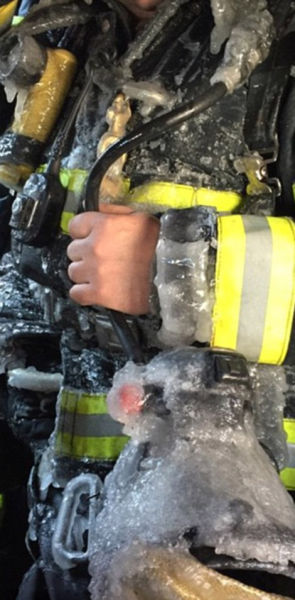 Warehouse Fire Is Turned to Ice Overnight