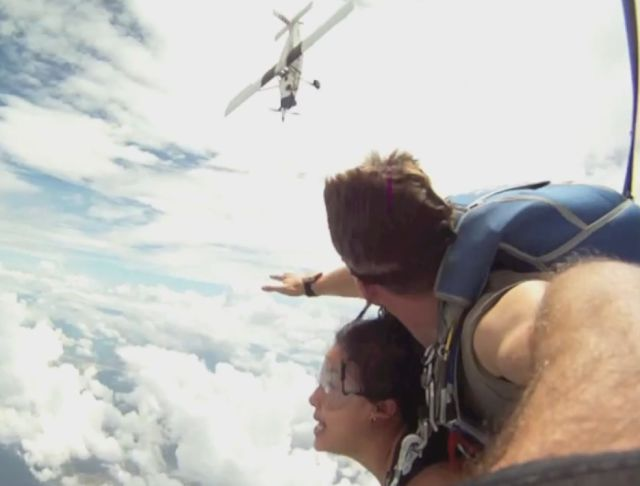 Skydivers Nearly Killed After Insane Close Call with an Airplane