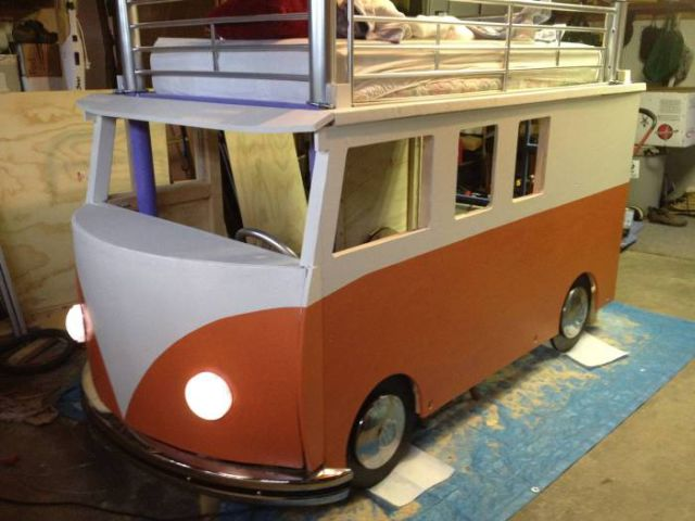 An Awesome Homemade VW Bus Bed