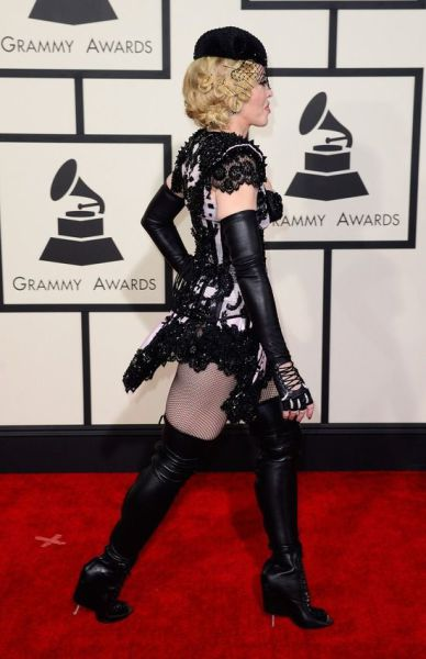Madonna Steps Out in True Madonna Style at This Year's Grammys