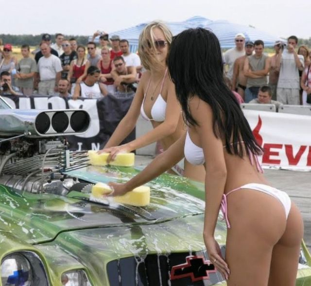 Soapy Car Wash Girls Simply Ooze Sexiness