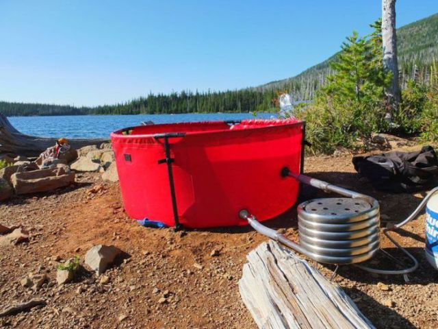 Camping Just Got a Lot Cooler with the Portable Hot Tub