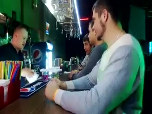 'Military Shots' in a Russian Bar