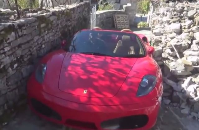 No Way This Ferrari Goes through This Path without a Scratch