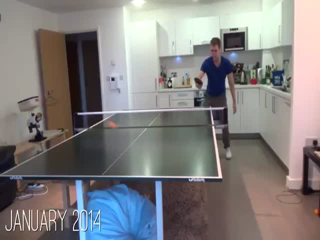 The Evolution of a Guy Who Started to Play Table Tennis Everyday for a Year