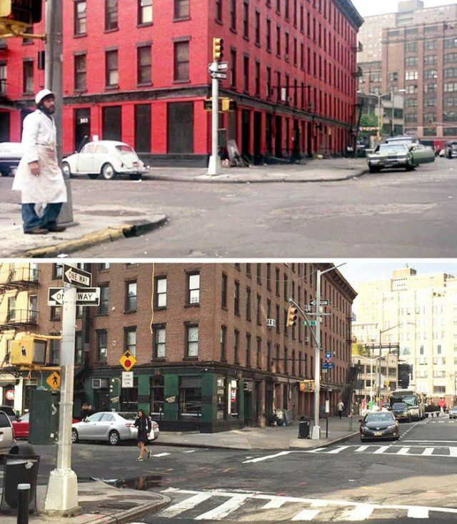 Iconic Movie Locations Then and Now