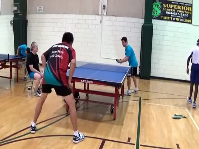 Most Awesome Table Tennis Move of the Year So Far  (VIDEO)