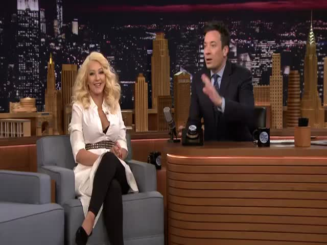 Christina Aguilera Performs a Spot on Impression of Britney Spears