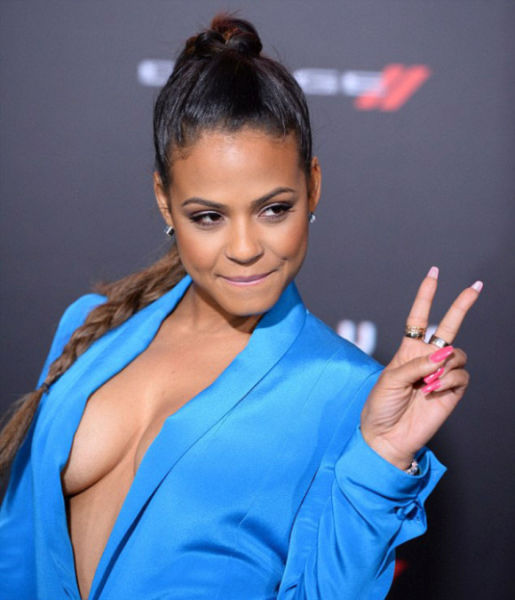 Christina Milian's Red Carpet Nip Slip