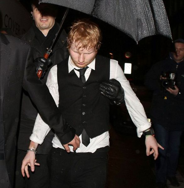 Ed Sheeran Looks a Little Worse for Wear after the BRIT Awards