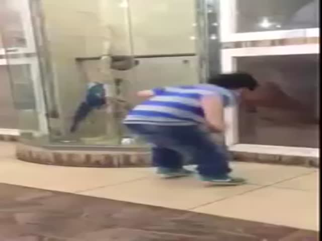 Kid Tries to Scare a Dog