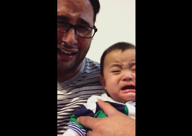 Empathetic Baby Cries Every Time His Dad Simulates Crying