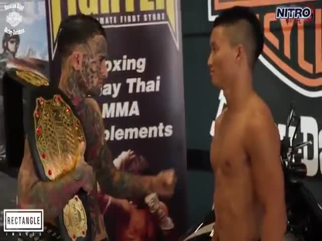 MMA Fighter Acts like a Douche, Then Gets Destroyed on the Ring  (VIDEO)