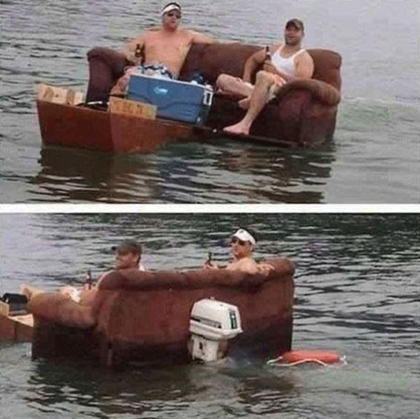 Redneck Hacks for Watercrafts That Are a Little Silly and a Little Insane