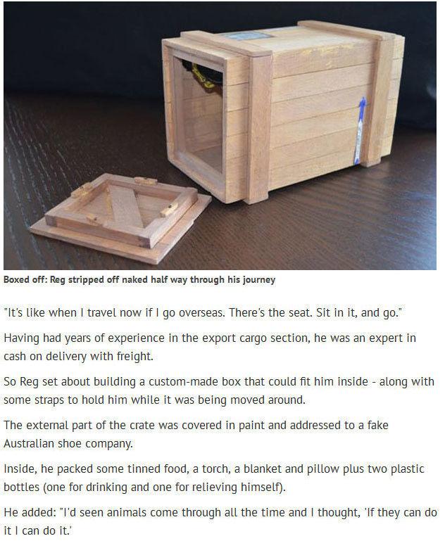 Broke Athlete Posts Himself Half Way across the World in a Box