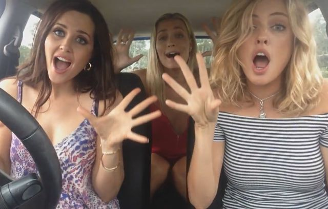 Three Australian Cuties Rock the Hell Out of