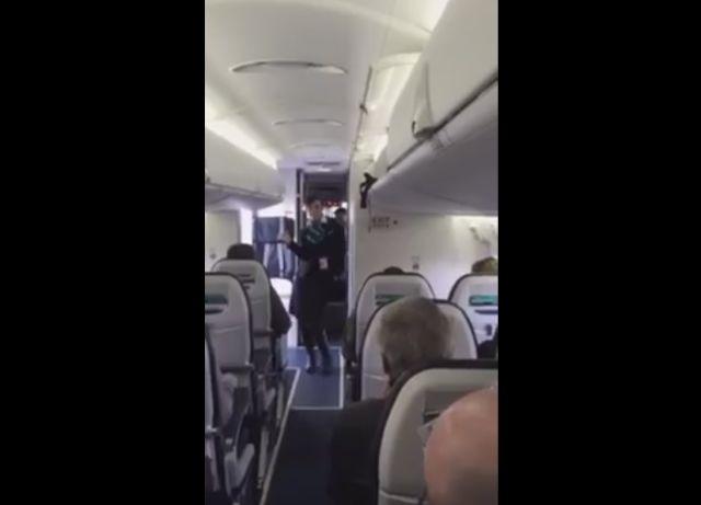 Flight Attendant Dances to